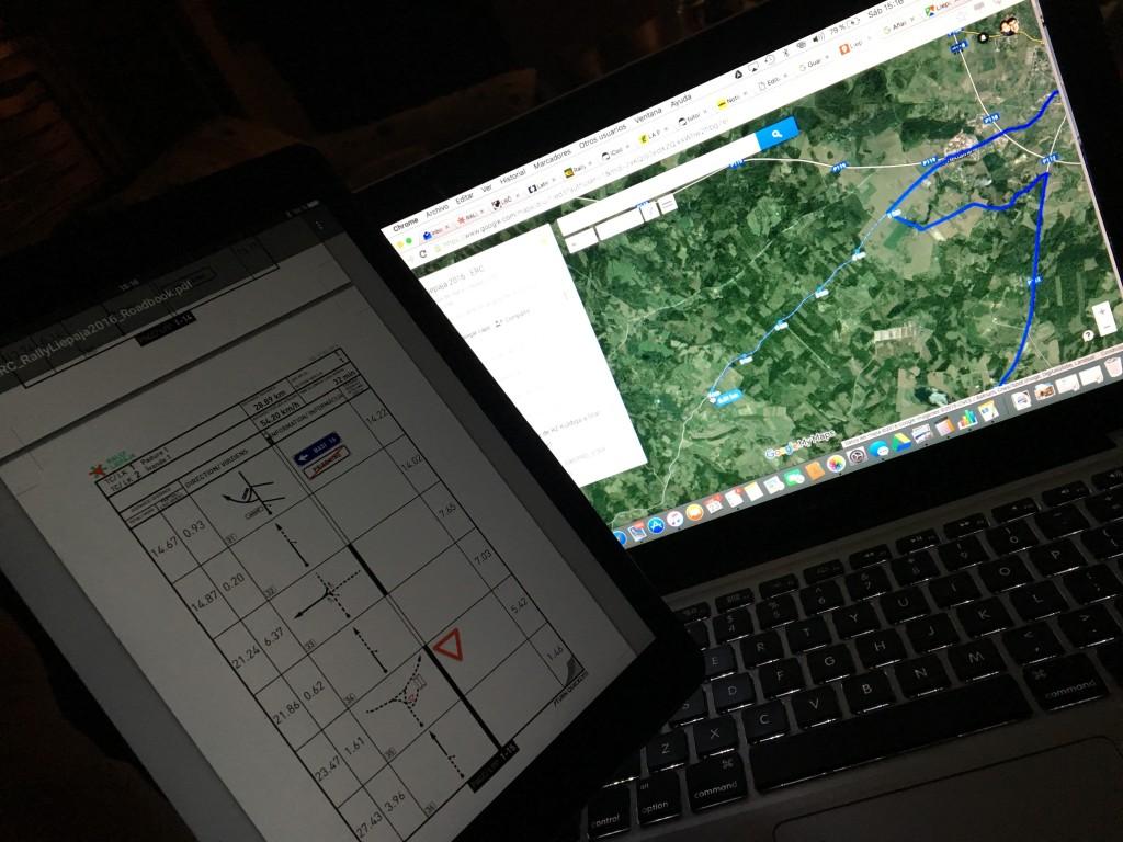 Reconocimiento virtual de los caminos del Rally Liepaja 2016.